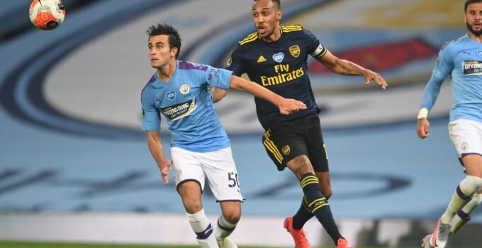Eric Garcia played earlier this year in Manchester City's 3-0 win over the Gunners